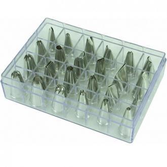 Комплект от 24 различни метални шприца в кутия