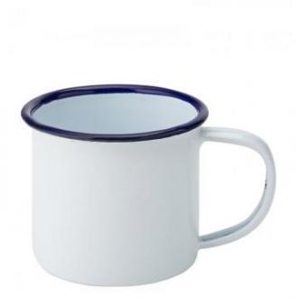 Мини чашка 150 мл, син кан, емайлирана