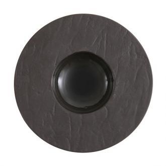 Луксозна черна порцеланова чиния дълбока