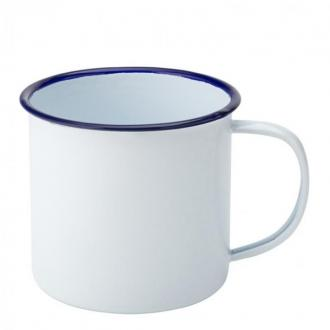 Чаша емайл син кант, 540 мл