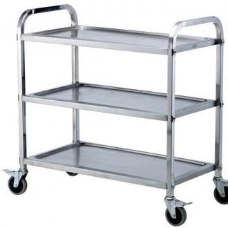Сервитьорска количка 3 нива, неръждаема стомана, шир.47 см