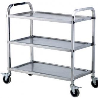 Сервитьорска количка 3 нива, неръждаема стомана, шир.50 см