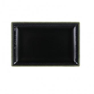 Плато черно със зелен кант 30х20 см