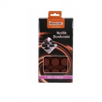 Силиконова форма за 15 кръгли шоколодави бонбони