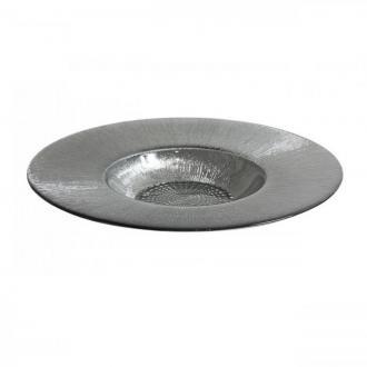 Чиния за паста/ризото 30 см стъкло със сребърна основа