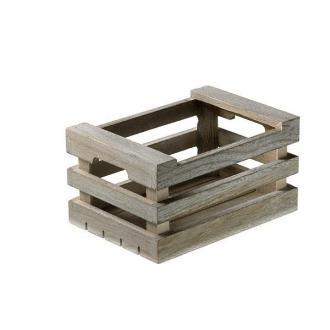 Дървена касетка за сервиране 25x17x10 см избелено дърво