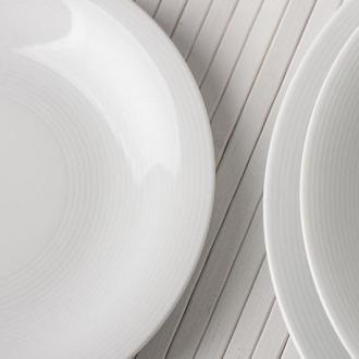 Чиния плитка 21 см с концентрични кръгове, серия Tiago