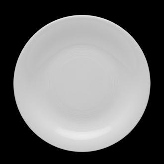 Чиния плитка 25 см с концентрични кръгове, серия Tiago