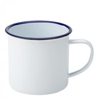Чашa със син кант, емайл - 380 мл