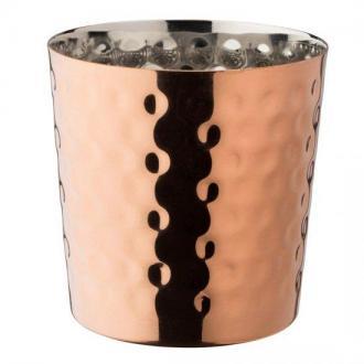 Чаша с медно покритие релеф вис.9см, 390 мл
