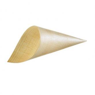 Бамбукова фунийка дълж. 19,5 см, диам. 7 см компл.50 бр