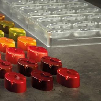 Поликарбонатна форма за бонбони PC69 Pavoni